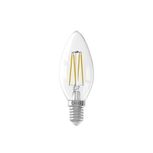 Calex Calex candle LED Lamp Filament - E14 - 350 Lm - Zilver