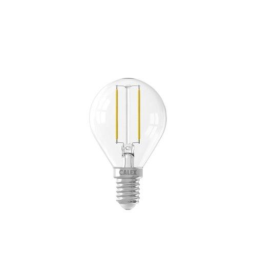 Calex Calex Spherical LED Lamp Filament - E14 - 200 Lm - Zilver