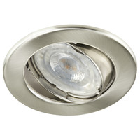Lightexpert.nl LED Inbouwspot 12V RVS - Dimbaar - 5.5W - Warm White