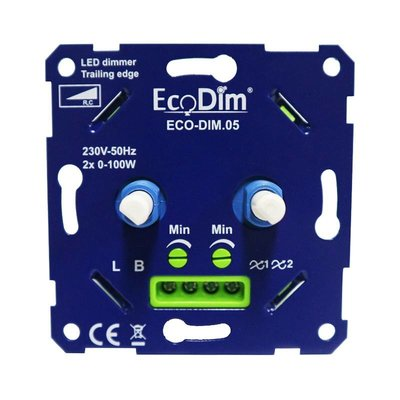 LED DUO Dimmer 2x 0-100 Watt 220-240V