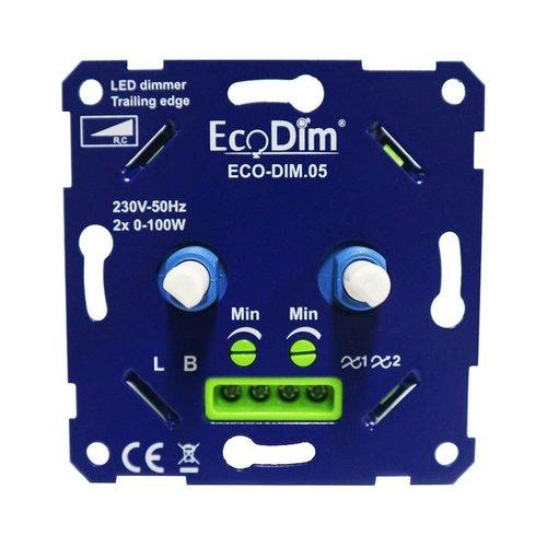 EcoDim LED DUO Dimmer 2x 0-100 Watt 220-240V