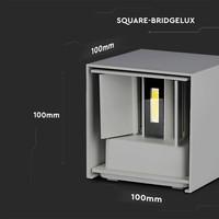 Lightexpert LED Wandlamp Buiten Wit - Tweezijdig - 3000K - 6W - IP65