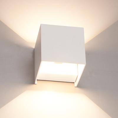 LED Wandlamp Buiten Wit - Tweezijdig - 3000K - 6W - IP65