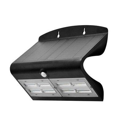 Solar Wandlamp met Sensor - 7W - 4000K - 800 Lumen - Zwart