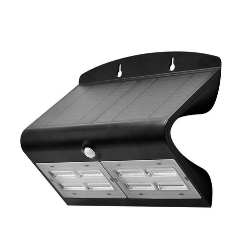 Lightexpert.nl Solar Wandlamp met Sensor - 7W - 4000K - 800 Lumen - Zwart