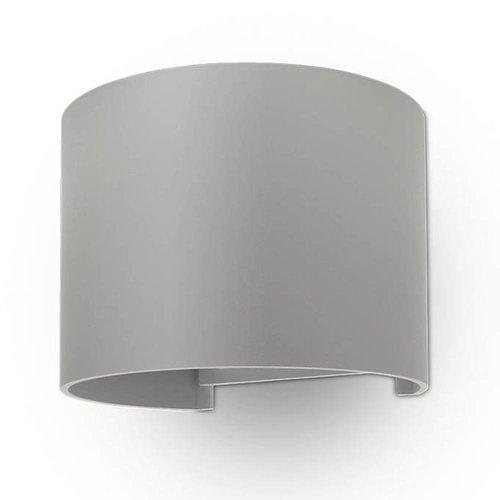 Lightexpert.nl LED Wandlamp Buiten Rond Grijs - Tweezijdig - 3000K - 6W