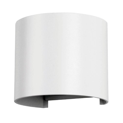 Lightexpert LED Wandlamp Buiten Rond Wit - Tweezijdig - 3000K - 6W