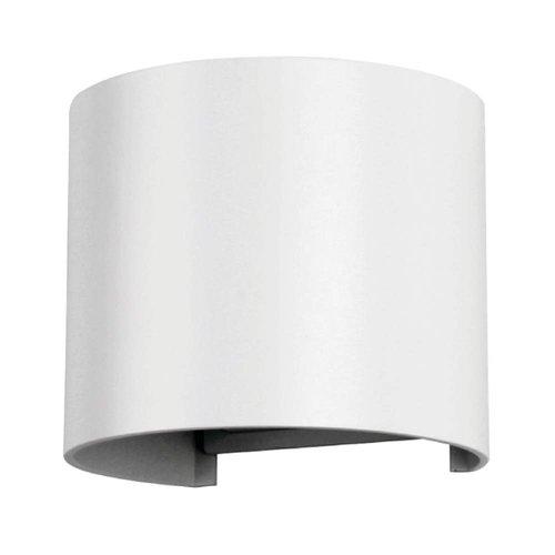 Lightexpert.nl LED Wandlamp Buiten Rond Wit - Tweezijdig - 3000K - 6W