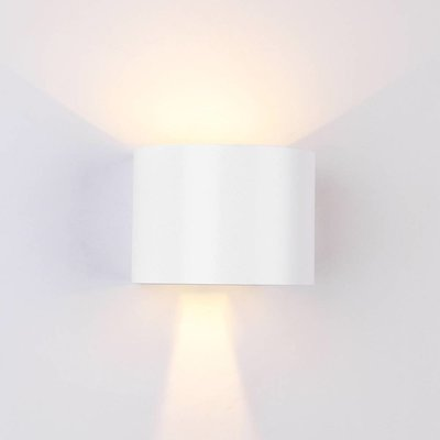 LED Wandlamp Buiten Rond Wit - Tweezijdig - 3000K - 6W