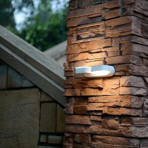 Lightexpert.nl LED Wandlamp Buiten kantelbaar Wit - Dubbel - 3000K - 12W