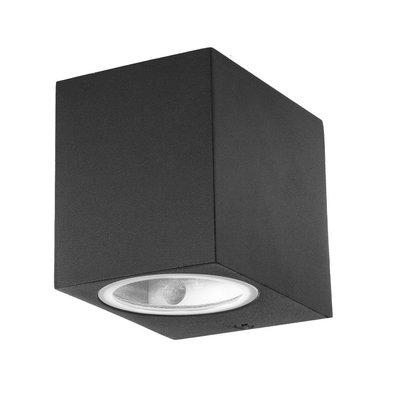 LED Wandlamp Buiten Vierkant Zwart - Excl. Spot
