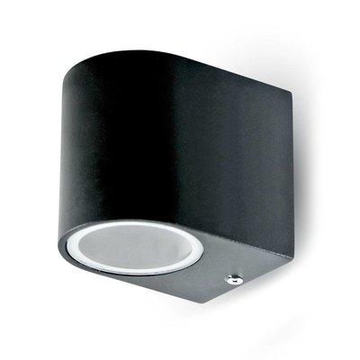 Wandlamp buiten halfrond zwart - Excl. Spot