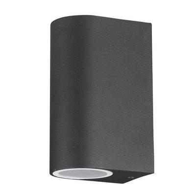 Wandlamp buiten halve Cilinder Zwart - Tweezijdig - Excl. Spot