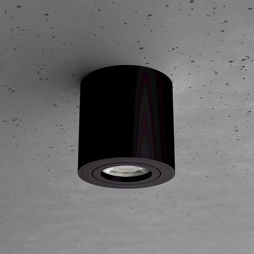 Lightexpert LED Opbouwspot Zwart Kantelbaar Rond