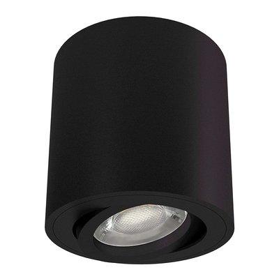 LED Opbouwspot - Rond - Zwart - Kantelbaar - IP20 - Excl. GU10 spot