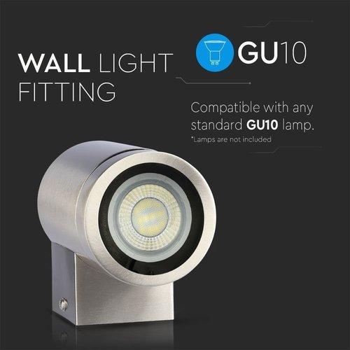 Lightexpert Wandlamp buiten vierkant zwart GU10 - Excl. Spot