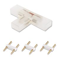 Lightexpert 2-Pins T-Connector voor LED Strip 180 LEDs - 10 Stuks