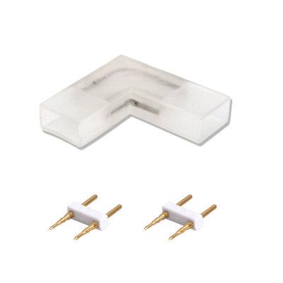 2-Pins Hoekconnector voor LED Strip 60 LEDs - 10 Stuks