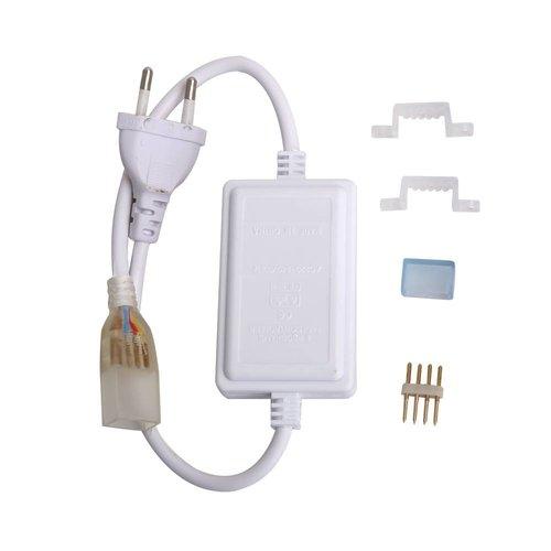 Lightexpert 230V Netvoeding voor LED Strip RGB - Plug & Play