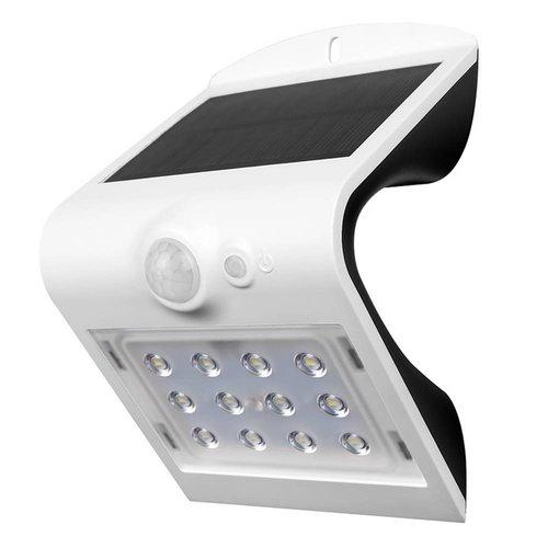 Lightexpert Solar Wandlamp Sensor - 1,5W - 4000K - 220 Lumen - Wit