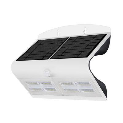 Solar Wandlamp met Sensor - 7W - 4000K - 800 Lumen - Wit