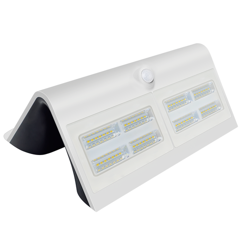 Lightexpert Solar Wandlamp met Sensor - 7W - 4000K - 800 Lumen - Wit