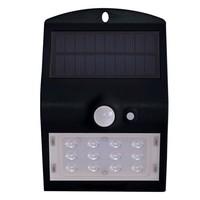 Lightexpert.nl Solar Wandlamp Sensor - 3W - 4000K - 400 Lumen - Zwart