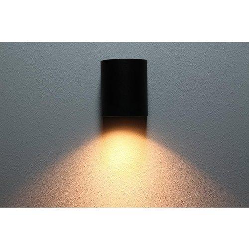 Lightexpert.nl Wandlamp buiten halfrond zwart - Excl. Spot