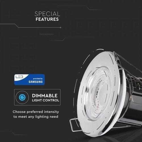 Samsung LED Inbouwspots Samsung Chrome 5W – IP65 – 3000K - Geïntegreerd LED