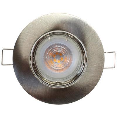 Philips LED Inbouwspot RVS Orlando - Dimbaar - 5W - Warm White