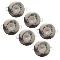 Philips Philips LED Inbouwspot RVS Orlando - Dimbaar & Kantelbaar - 5W - 6 Pack