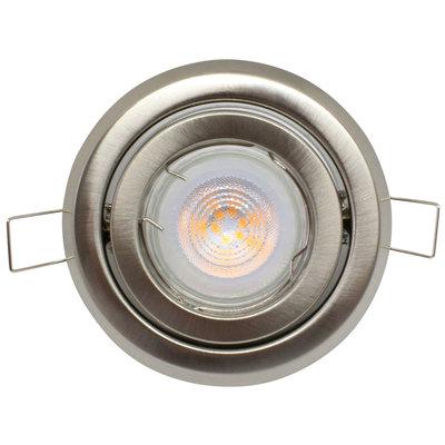 Philips LED Inbouwspot RVS Madison - Dimbaar & Kantelbaar - 5W