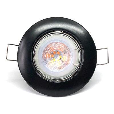 Philips LED Inbouwspot Zwart - Dimbaar & Kantelbaar - 5W