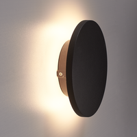 Lightexpert LED Wandlamp Buiten Zwart Rond - 3000K -  6W - IP54