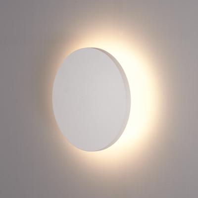 LED Wandlamp Buiten Wit Rond - 3000K -  6W - IP54
