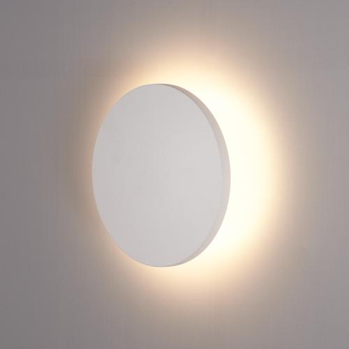 Lightexpert LED Wandlamp Buiten Wit Rond - 3000K -  6W - IP54