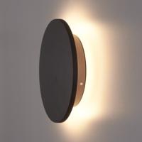 Lightexpert LED Wandlamp Buiten Zwart XL Rond - 3000K -  9W - IP54