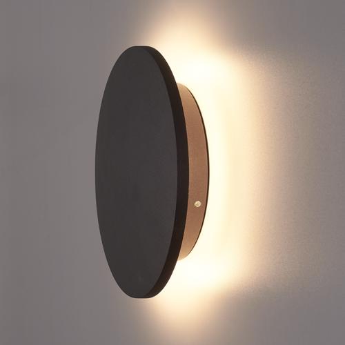 Lightexpert.nl LED Wandlamp Buiten Zwart XL Rond - 3000K -  9W - IP54