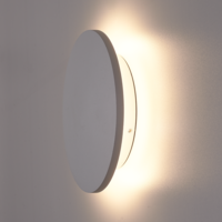 Lightexpert LED Wandlamp Buiten Grijs XL Rond - 3000K -  9W - IP54