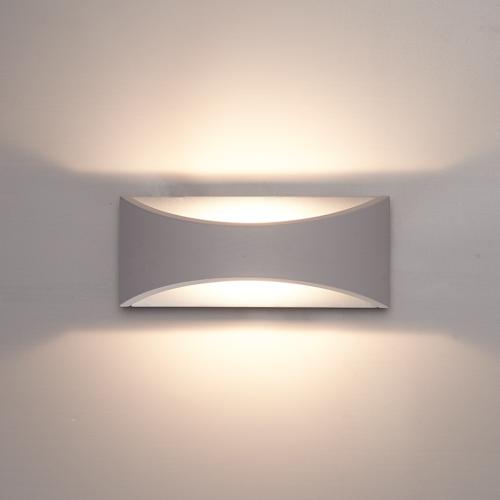 Lightexpert.nl LED Wandlamp Dubbelzijdig Oplichtend Grijs  - 3000K -  6W - IP54