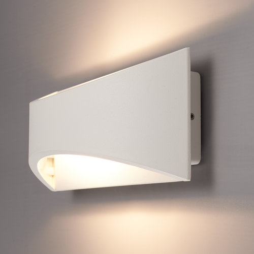 Lightexpert LED Wandlamp Dubbelzijdig Oplichtend Wit  - 3000K -  6W - IP54