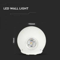 Lightexpert.nl LED Wandlamp Globe Dubbelzijdig Lichtgevend Wit  - 3000K -  6W - IP65