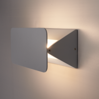 Lightexpert LED Wandlamp Dubbelzijdig Oplichtend Grijs Rechthoekig  - 3000K -  6W - IP54