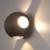 LED Wandlamp Globe Vierzijdig Lichtgevend Zwart  - 3000K -  4W - IP54