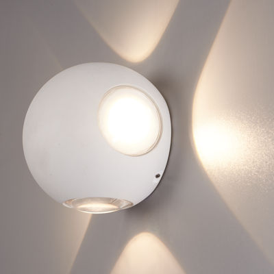 LED Wandlamp Globe Vierzijdig Lichtgevend Wit  - 3000K -  4W - IP54