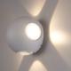 LED Wandlamp Globe Vierzijdig Lichtgevend Grijs  - 3000K -  4W - IP54