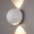 LED Wandlamp Globe Dubbelzijdig Lichtgevend Wit - 3000K -  2W - IP54