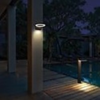 Lightexpert.nl Solar Tuinpad Lamp Zwart  Rond - 6W - 2700K - 600 Lumen