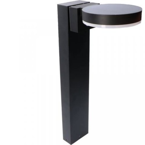 Lightexpert Solar Tuinpad Lamp Zwart  Rond - 6W - 2700K - 600 Lumen