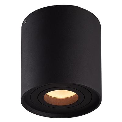 Dimbare LED Opbouwspot  - Rond - Zwart - 6,5W - 3000K - Kantelbaar - IP20